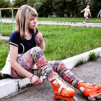 Девушка на роликах :: Виталий Косицын