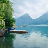 Озеро Фольфгангзе в горах Австрии :: Алена Зингер