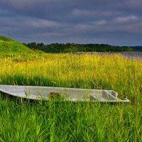Лодка у озера :: Валерий Талашов