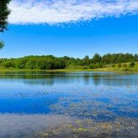 Облако в небе и в озере :: Милешкин Владимир Алексеевич