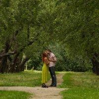 Поцелуй в яблоневом саду :: елена