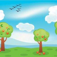 Яблочный сад в программе CorelDRAW :: Наталья (ShadeNataly) Мельник