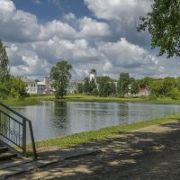 Вышний Волочек. Вид на здание Магистрата и реку Цна. :: Михаил (Skipper A.M.)