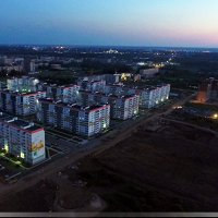 Ночная аэросъемка нашего района :: Павел Москалёв