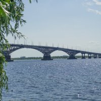 Мост Саратов-Энгельс :: Анастасия Мойсук
