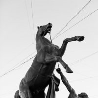 Укротитель коня на Аничковом мосту :: Марат Рысбеков