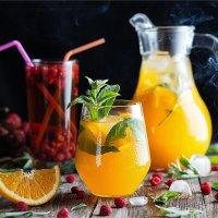Апельсиновый коктейль с мятой :: Ирина Лепнёва