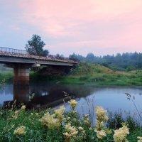 До рассвета.Тверца и мост через Тверцу :: Павлова Татьяна Павлова