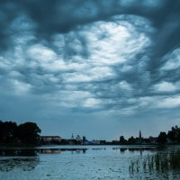 Небо над р.Мяделка :: Hanna Prakapovich
