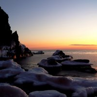 Зимний морской пейзаж :: Василий Искалеев