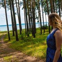 В Ордынском лесу,стоит девушка и смотрит на море :: Света Кондрашова