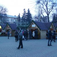 Новогодняя  ярмарка  в  Ивано - Франковске :: Андрей  Васильевич Коляскин