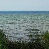Блеск зеркальный озера Плещеева так и манит голубой волной. :: Galina Leskova