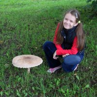 Мам,посмотри я гриб нашла))) :: Наталья Полочанка