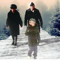 Мама,папа и я прогулял на лесе. :: Михаил Филатов
