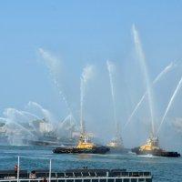 Вальс кораблей на воде. Репетиция парада в Севастополе. :: Ольга Голубева