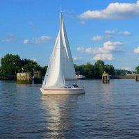 Segelboot. Hamburg :: Nina Yudicheva