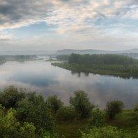 Протоки Енисея утром. :: Евгений Герасименко