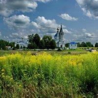 Село Санино, вид наСвято-Никольский женский монастырь :: Валерий Толмачев