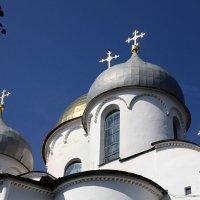 Купола Софийского собора Великого Новгорода :: Наталья