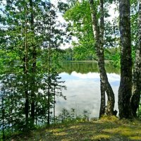 У озера :: Vladimir Semenchukov