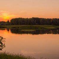Закат на Иртыше. :: Андрей Леднев