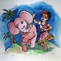 Весёлый слонёнок :: Самохвалова Зинаида