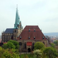 кафедральный собор Эрфурта (1170 год) и церковь святого Севера (1148 год) :: Olga