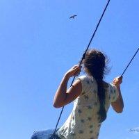 На вершине человек начинает ощущать мысли гор. :: Anna Gornostayeva