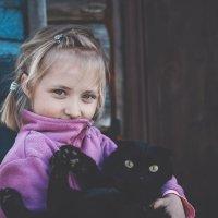 Девочка и кот :: Ольга Перевалова
