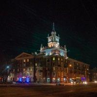 Площадь Ленина, дом со шпилем, Комсомольск-на-Амуре :: Ирина Антоновна