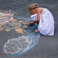 Рисунки на асфальте. Творчество :: Марк Э