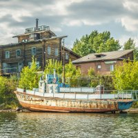 old house by the river :: Alexander Ivanov