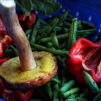 Спаржевая фасоль, перец и белый гриб. Часть первая. :: Ирина Сивовол