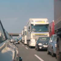 Autobahn, Hitze, Stau :: Olga