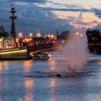 .. Городской пейзаж (вариант с фонтанами №1) :: Арина Дмитриева