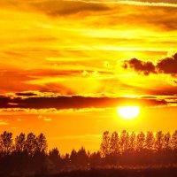 Солнцезакатная панорама :: Анатолий Клепешнёв