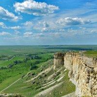 Крымские прерии с горы Ак-Кая (Белая скала) :: Ольга Голубева