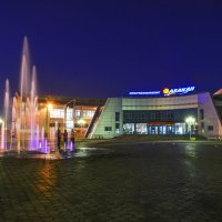 Ночной фонтан. :: юрий Амосов