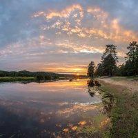 Закат на река Луга :: Фёдор. Лашков