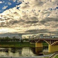 Река Западная Двина и Кировский мост в Витебске. :: Сергей *Витебск*
