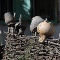 Утварь кухонная на плетне... :: Аnatoly Polyakov