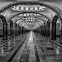Московское метро. Черно-белая Маяковская :: Андрей Левин