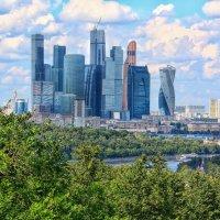 Москва Сити со смотровой площадки на Воробьёвых горах :: Ирина ...