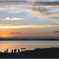 Закат над солёным озером :: Елена Исхакова