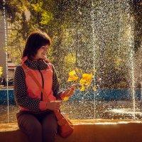 Девушка в осеннем парке :: Андрей Липов