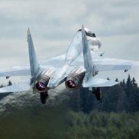 """Растворяясь в небе... Су-30См пилотажной группы """"Соколы Росси"""" :: Дмитрий Бубер"""