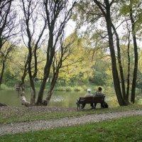 Осень. Пожилая пара на лавочке. :: Михаил Онипенко