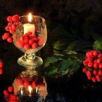 Этюд...Пламенеет рябина, догорает свеча...... :: Павлова Татьяна Павлова