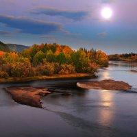 вечерняя луна :: Александр
